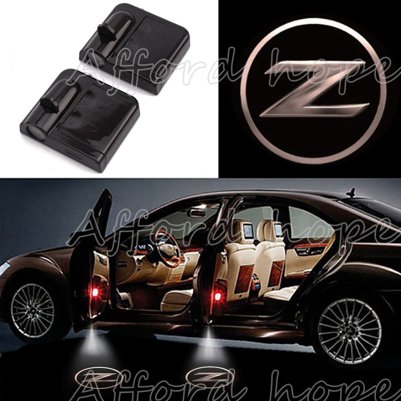 Universal Fit Car Laser 3D Solid Z Logo Light Ghost Shadow