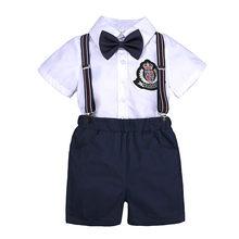 61b30b114 MUQGEW niño ropa de bebé niño traje de caballero corbata camiseta  pantalones cortos pantalones traje Casual