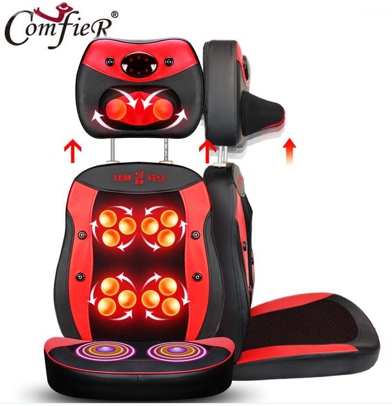 Cervical spine massager massage cushion body multi-purpose household massage cushion for leaning on of massage chair tapping massage cushion 3d new massager whole body massage chair mat for sale