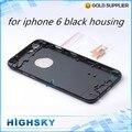 1 unidades el envío libre de metal piezas de repuesto accesorios negro de nuevo cubierta para iphone 6 vivienda caso de 4.7 pulgadas con el lado llaves