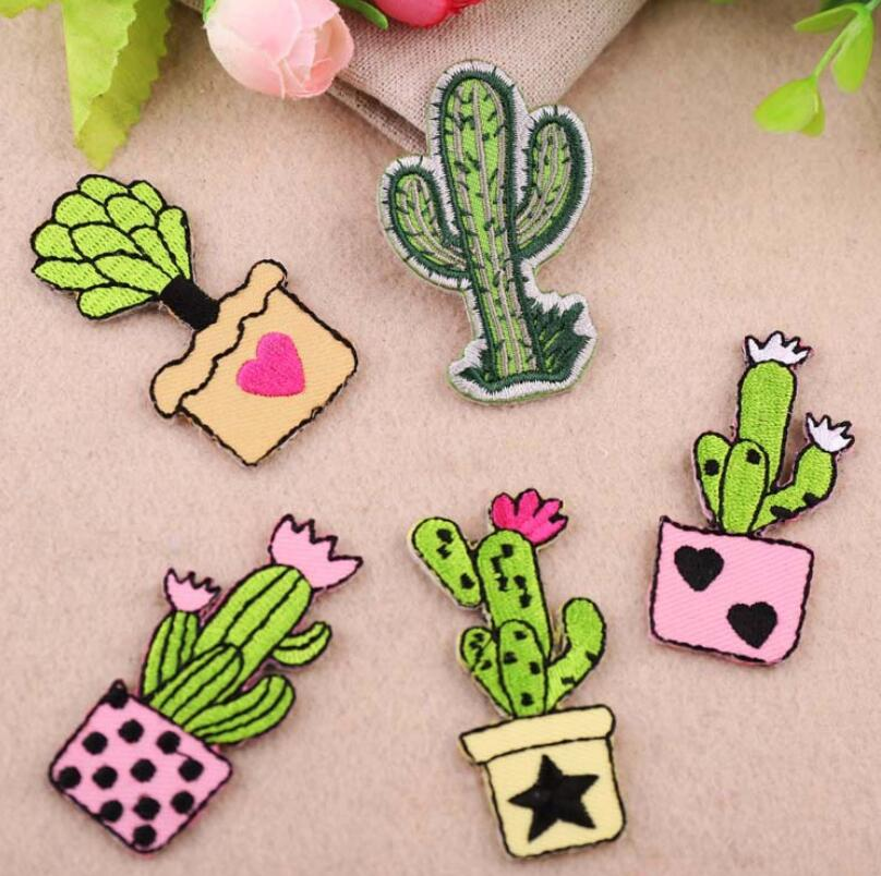 5 Style The Cactus Patchwork Patch Embroidered Patches For Clothing Iron On Close Shoes Bags Badges Embroidery