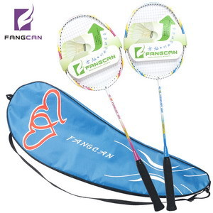 (2pcs/lot)FANGCAN FOREVER 999 Composite Badminton Rackets Couple Shoot With Strings and Covers