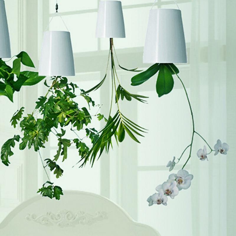 Pink Blue White Black 4Colors Decorative Small Hanging Plant Pot Plastic  Upside Down Flower Pots Sky