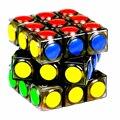 Yj transparente cubo mágico 3x3x3 puzzle cube velocidad juego dot forma cubos magicos profesional juego de puzzle carreras de juguetes para niños regalos