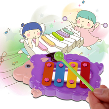 Baby Music Toy 4-note Resonator Bells Animal Design for Kids Educational Toy Baby Infant Playing Toy Musical Instrument
