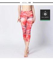 2017 נשים מכנסיים חותלות גבוהה מותן מודפס נשי miti צבעים only את חותלות מקרית למתוח קצוץ חותלות