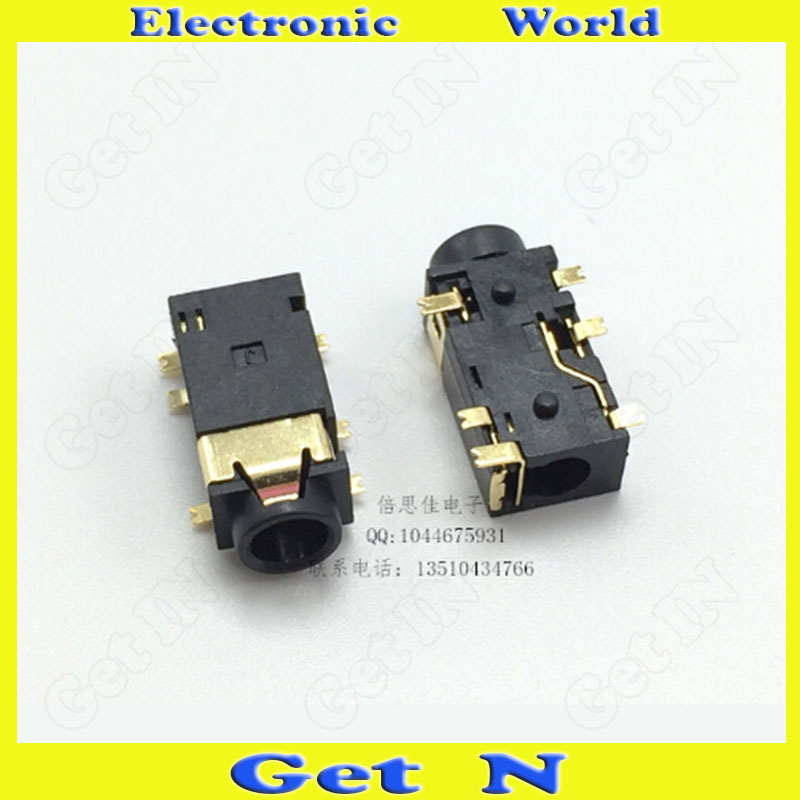30 PJ-342B 3.5mm Headphone Female Plug Column Auido Video Connector Jack 6Pins SMD - Get N Electronic Game World store