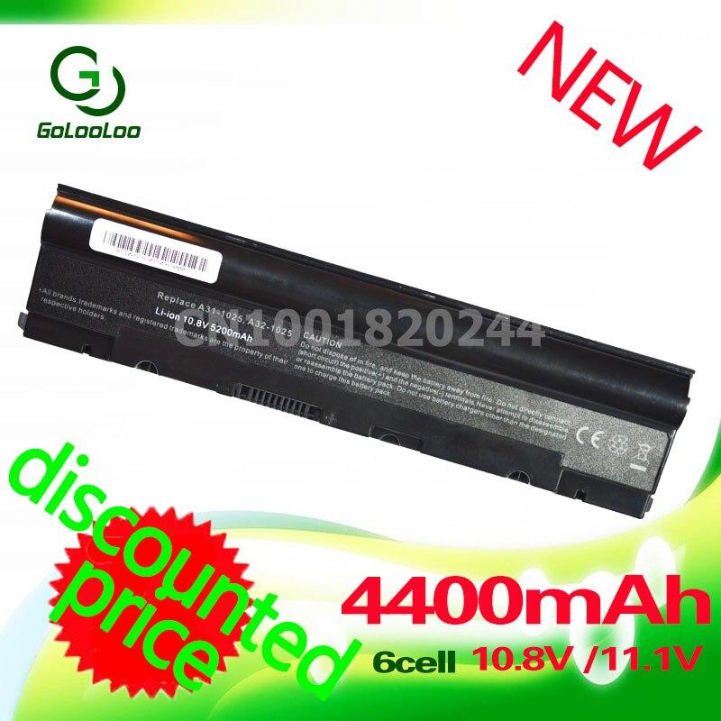 Golooloo Noir 4400 mAh batterie D'ordinateur Portable A31-1025 A32-1025 pour Asus 1025C Eee PC 1025 EPC 1025C 1225 1225B 1225C R052 R052C R052CE