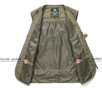 Fishing Vests Quick Dry Breathable Multi Pocket Mesh Vest Sleeveless Jackets Unloading Photography Hiking Vest Fish Vest,GA283 6
