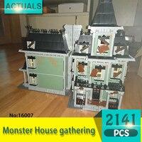 Lepin 16007 2141Pcs Movie Series Monster House Gathering Model Building Blocks Set Bricks Toys For Children