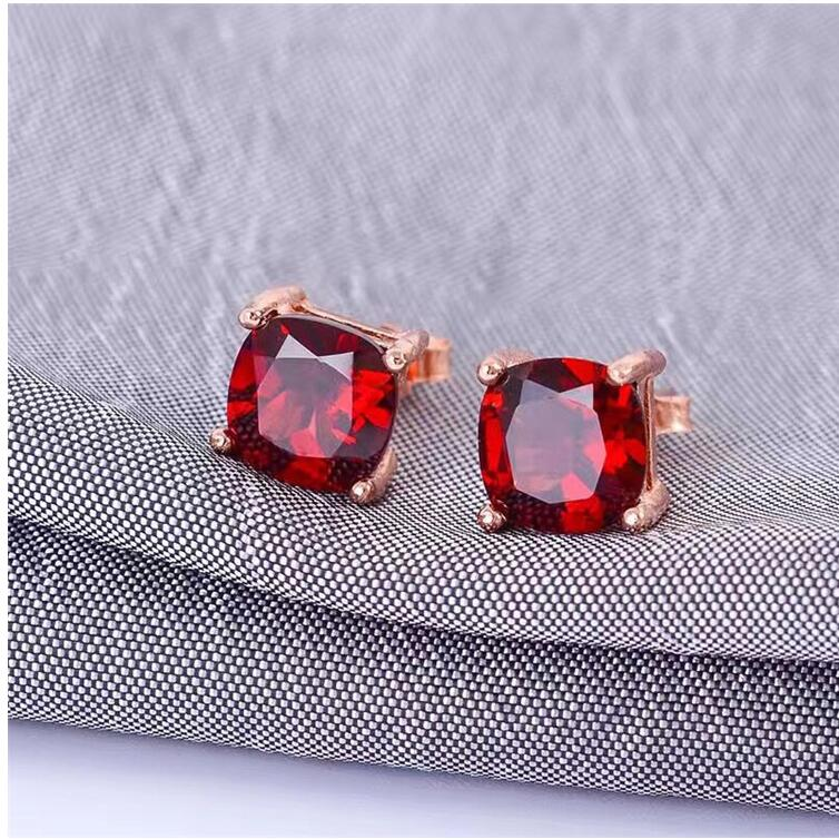 Natural garnet earring Free shipping Natural real red garnet 925 sterling silver 7mm star style garnet stud earring free shipping natural garnet 925 sterling silver fine gems jewerly