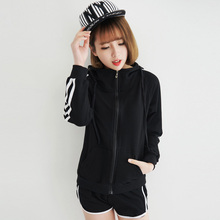 2018 The New Track Suit Female Summer Shorts Casual Baseball Uniform Hooded Long-sleeved Spring & Autumn 2 piece Sweatshirts
