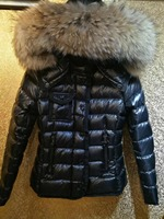 Fashion 2018 Classic winter Women's 90% white duck down jacket down coat large real fur Hooded Parka