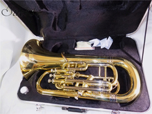 Bb Euphonium 3+1 Four Pistons Euphonium Brass body with ABS case instrumentos musicales professional цена и фото