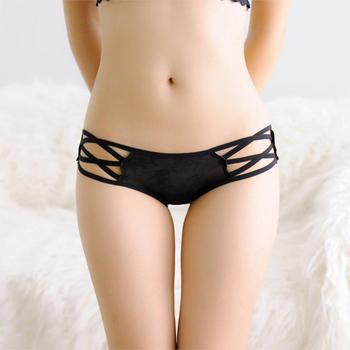 Sexy Bandage G String Women Open Crotch Thongs Panties Intimates Breathable Women Lingerie Underwear Girl Thongs sexy panti