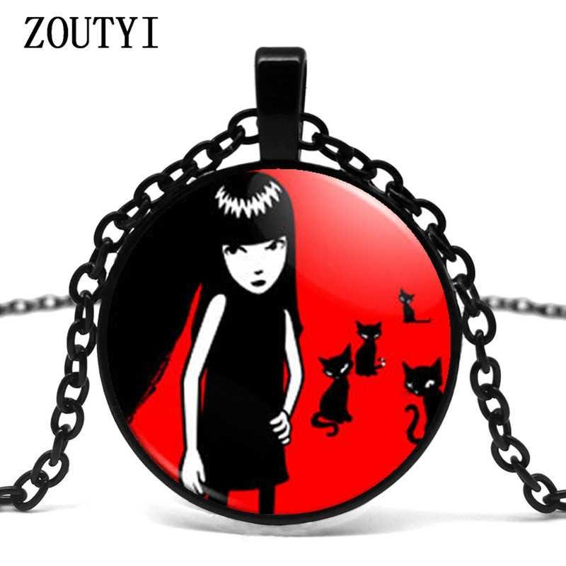 2018/an nouvelle offre spéciale fait à la main Emily strange Colar Longo collier gothique Emo collier pas cher.