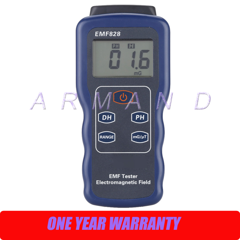 Low Frequency Field Intensity Meter EMF828 Portable Electromagnetic radiation detector tester