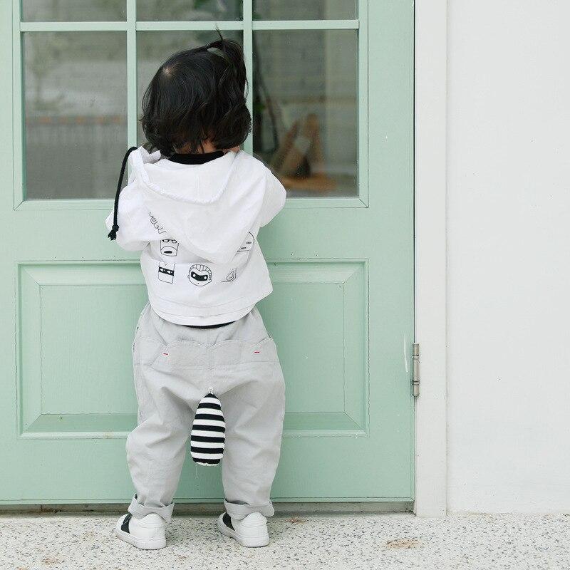 2018 Spring Boys Coat Korean Cartoon Print Coat Long Sleeved Zipper Children outwear kids cloth