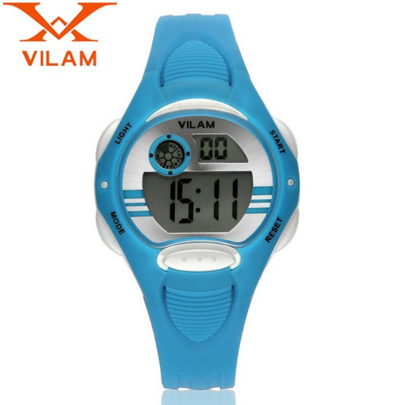 a18ba177f5b VILAM Casual Children Week Day Alarm Quartz Watches Kol Aaati Rubber Safe  PC Plastic Silicone Wristwatch Clock Gift Free Ship-in Children s Watches  from ...