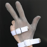 High quality 304L Stainless Steel Mesh Knife Cut Resistant Chain Mail Protective Glove for Kitchen Butcher Working Safety