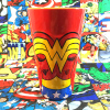 Official Imperfect Limited Glass Coffee Mug DC Wonder Woman Mark Milk Glass Collection Mug Multicolor For