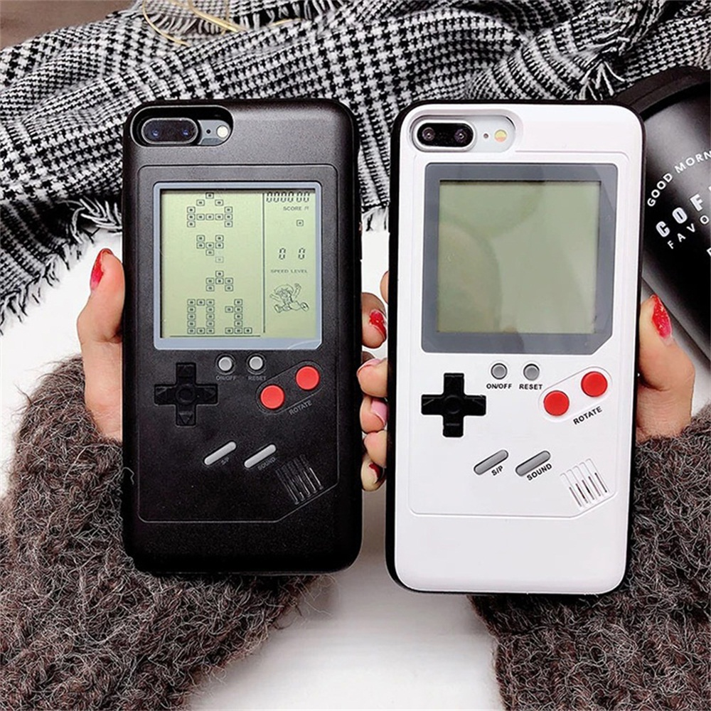 Tetris Phone Cases for iPhone 6 6S 7 8 Plus Soft TPU Can Play Blokus Game Console Cover For Iphone X Gameboy