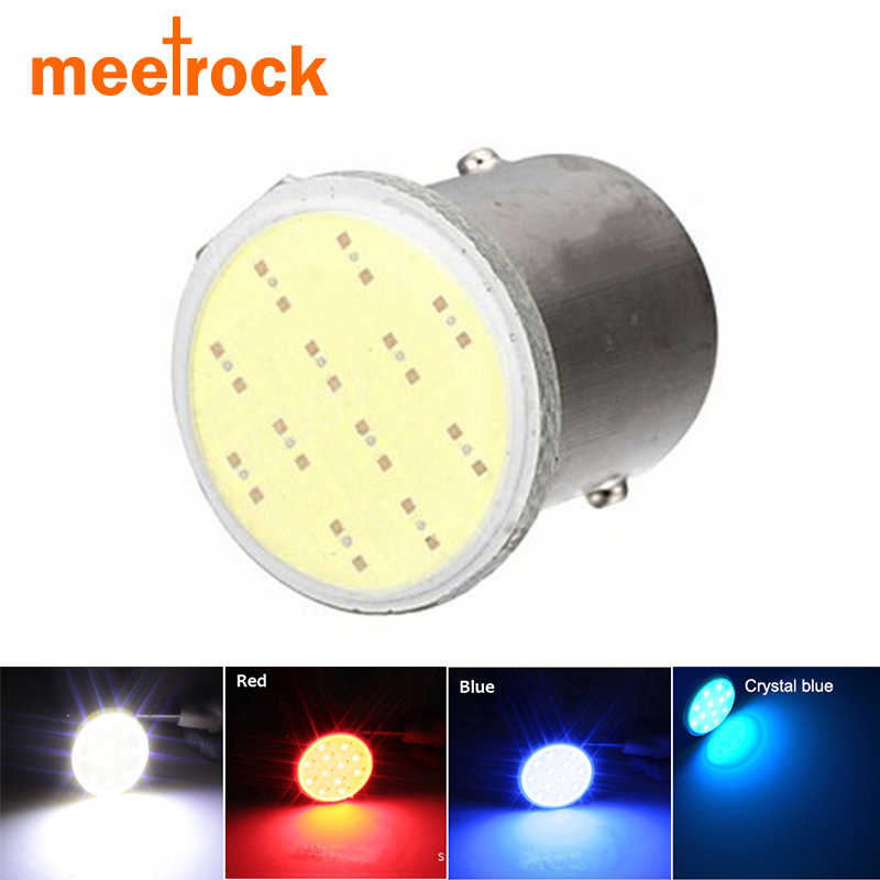 Meetrock big promotion cob p21w led 1156 ba15s 12SMD car light white motorcycle auto tail parking indicator lamp bulb 12V