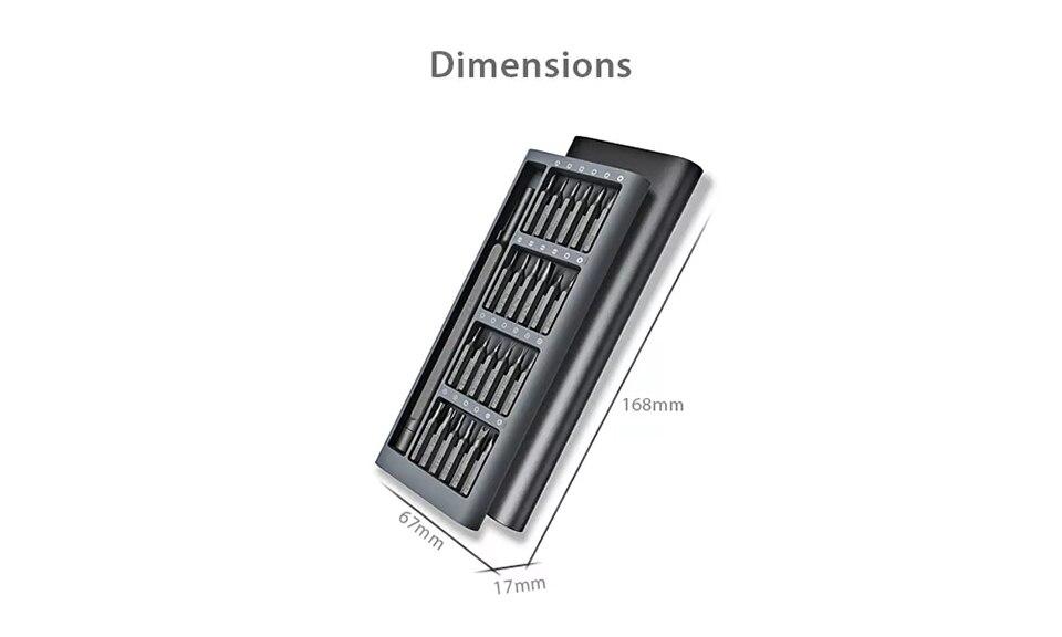 geekoplanet.com - 24 Precision Magnetic Bits Aluminum Box Screw Driver Smart Home Set
