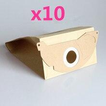 10x Elektrikli Süpürge Kağıt Toz Torbası Karcher için WD2.250 6.904 322 WD2200 A2004 A2054 A2024 WD2