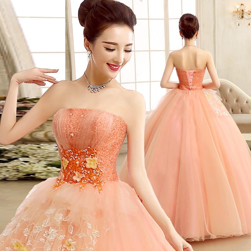 Quinceanera robes 2019 Vestidos De 15 Anos volants Orange dentelle luxe Debutante robes filles doux 16 robes