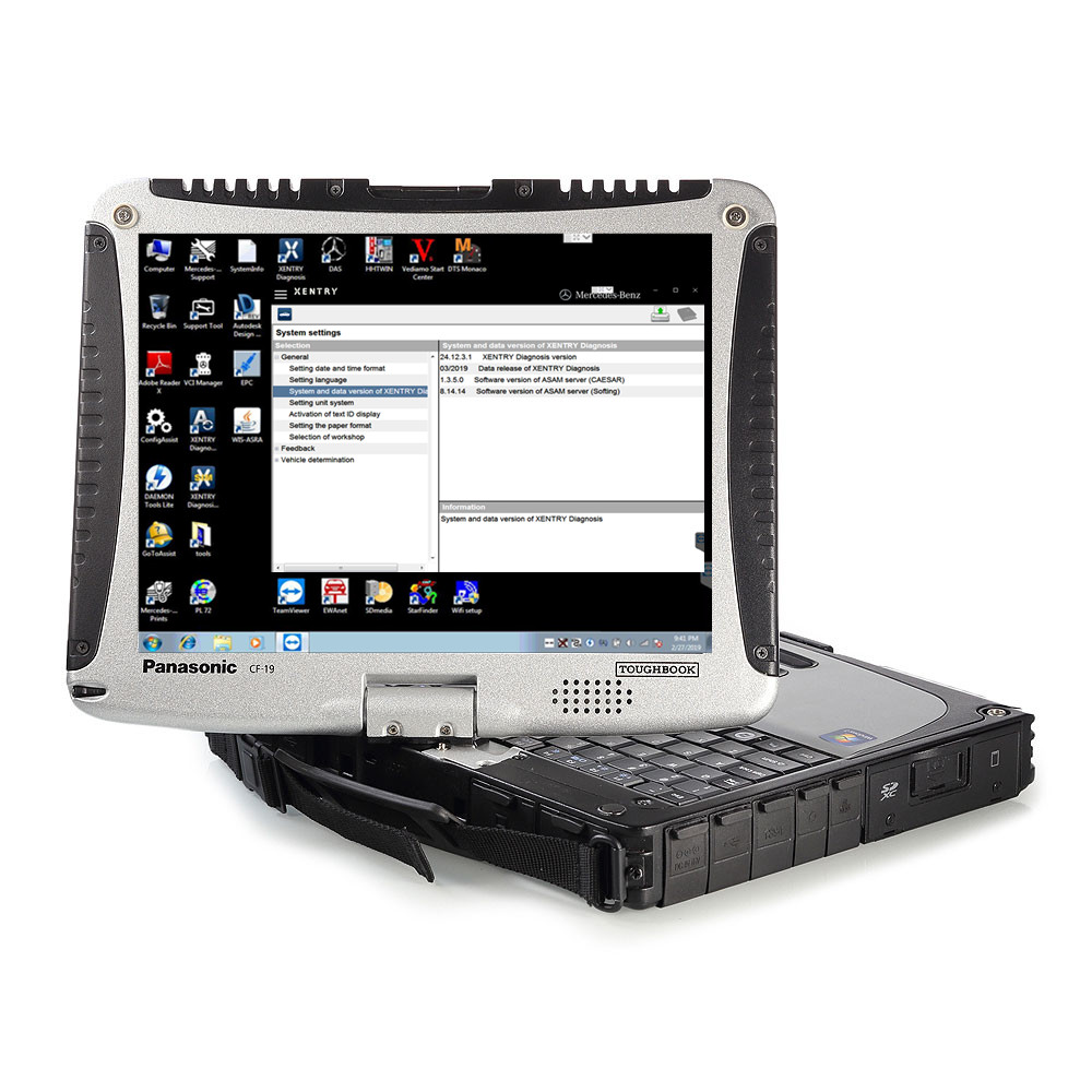 2019,09 TOUGHBOOK CF 19 4 Гб с последним программным обеспечением c4/c5 CF19 320 ГБ HHD или 360 ГБ SSD для MB SD Подключение компактный 4 без кабеля
