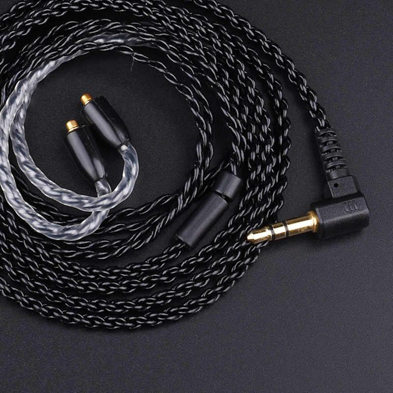 Upgrade DIY MMCX kabel do Shure SE215 SE425 SE535 SE846 słuchawki słuchawki przewodowe z węże termokurczliwe dla androida IOS MP3