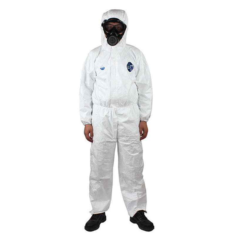 Tyvek for DUPONT Protective Clothing Disposable Hooded Coveralls Safety Antistatic Chemical Workwear Dustproof Anti-splashTyvek for DUPONT Protective Clothing Disposable Hooded Coveralls Safety Antistatic Chemical Workwear Dustproof Anti-splash