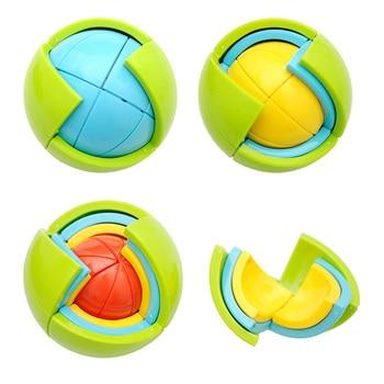 SLPF Puzzle Ball 3D Intelligenz Ball Labyrinth Spielzeug Kinder Entwicklung Drei Dimensionale Puzzle DIY Montage Spielzeug Baby Kinder GiftD22