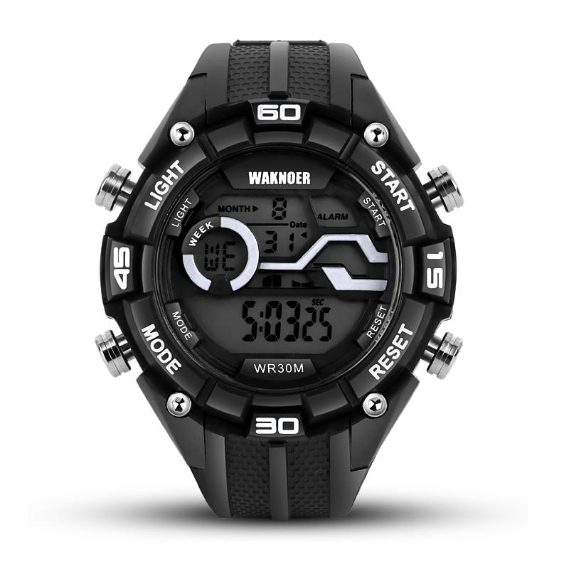 WAKNOER Waterproof Sport Watches Fashion Digital Wrist Watch Men Watch Military Men's Watch Clock reloj hombre relogio masculino труборез birzman front tube cutter bm08 ftc