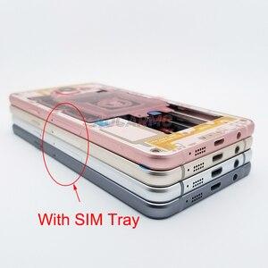 Image 3 - Aocarmo החלפת התיכון שיכון שלדה עם כפתורי ה SIM מגש עבור Samsung A5 (2016) A510 A510F