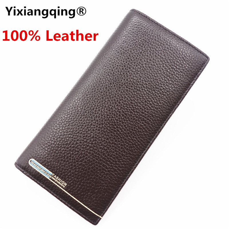 все цены на fashion men wallets famous brand genuine leather Long wallets Thicken design wallets with coin pocket purse card holder онлайн