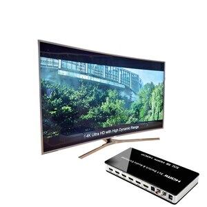 "Image 5 - 2019 חדש HDMI מתג Switcher 5x1 HDMI אודיו Extractor 4K x 2K 3D אודיו קשת EDID הגדרת 7.1CH/עו""ד/2CH"