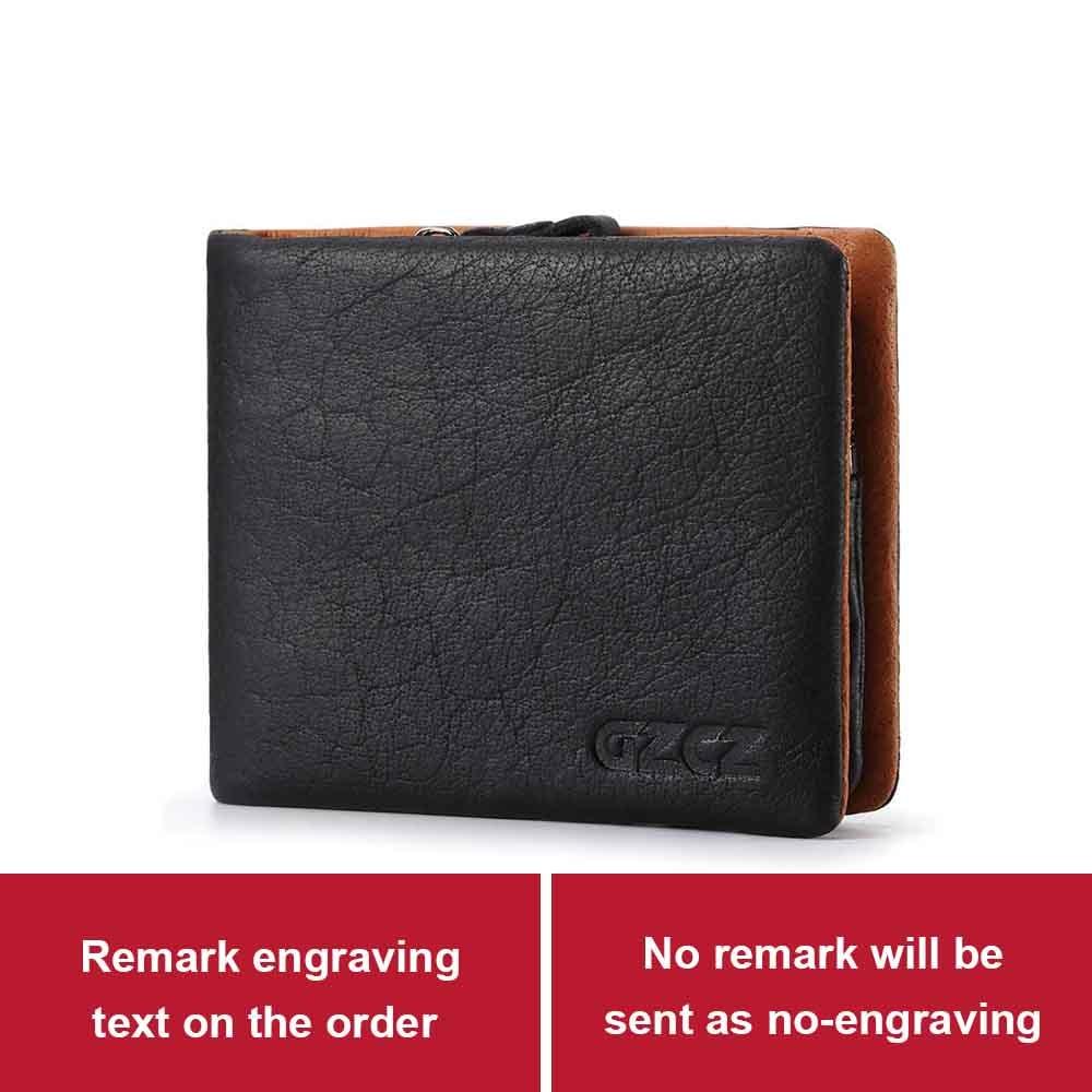 d741dafa8139 US $19.9 46% OFF|GZCZ Men Genuine Leather Wallet Fashion Long Wallets  Interior Zipper Vallet Card Holder Coin Pocket Men'S Purse Clamp For  Money-in ...