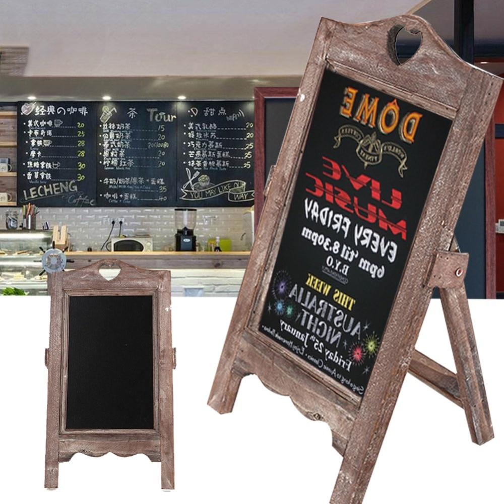 Wood Chalkboard Scaffolding Message…