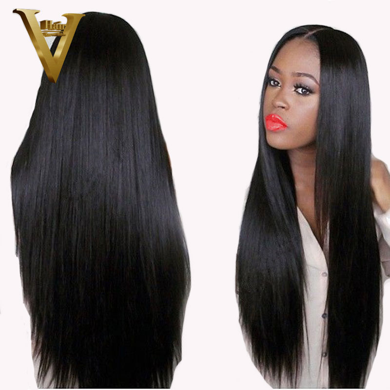 150 Density Glueless Lace Front Human Hair Wigs For Women Brazilian Remy Straight Human Hair Wigs