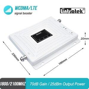 Image 2 - を Lintratek 3 グラム 4 グラム 1800 2100 携帯電話の信号ブースター DCS バンド 3 1800 WCDMA バンド 1 2100 ダブルバンドリピータ LTE アンプ 45