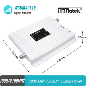 Image 2 - Lintratek 3G 4G 1800 2100 MHz טלפון סלולרי אותות בוסטרים DCS להקה 3 1800 WCDMA להקת 1 2100 כפול להקת משחזר LTE מגבר 45