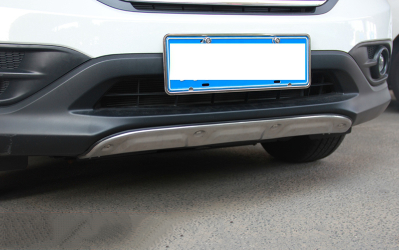 MONTFORD Fit For Honda CRV CR-V 2012 2013 2014 Aluminum Alloy Front Rear Bumper Guard Protector Skid Plate Bumper Covers 2Pcs front rear bumper protector sill trunk guard skid plate trim cover plate for nissan qashqai 2007 2008 2009 2010 2011 2012 2013