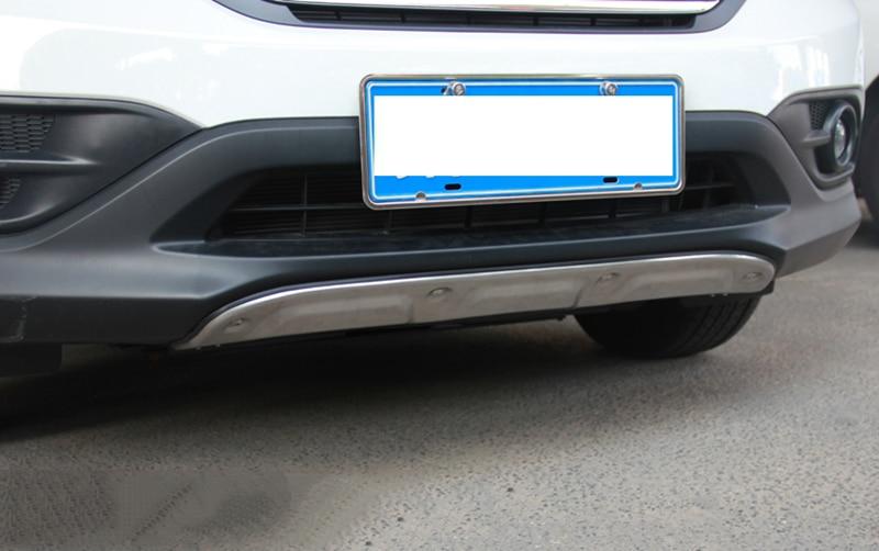 MONTFORD Fit For Honda CRV CR-V 2012 2013 2014 Aluminum Alloy Front Rear Bumper Guard Protector Skid Plate Bumper Covers 2Pcs 2pcs lot alloy aluminum front