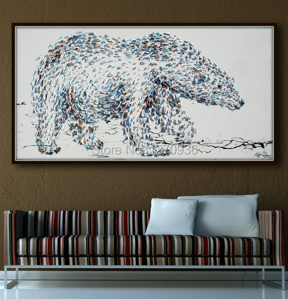 Handmade Big Animal Bear Oil Painting on Canvas Abstract Click Knife Oil Painting Modern Wall Art Abstract Bear Oil PaintingHandmade Big Animal Bear Oil Painting on Canvas Abstract Click Knife Oil Painting Modern Wall Art Abstract Bear Oil Painting
