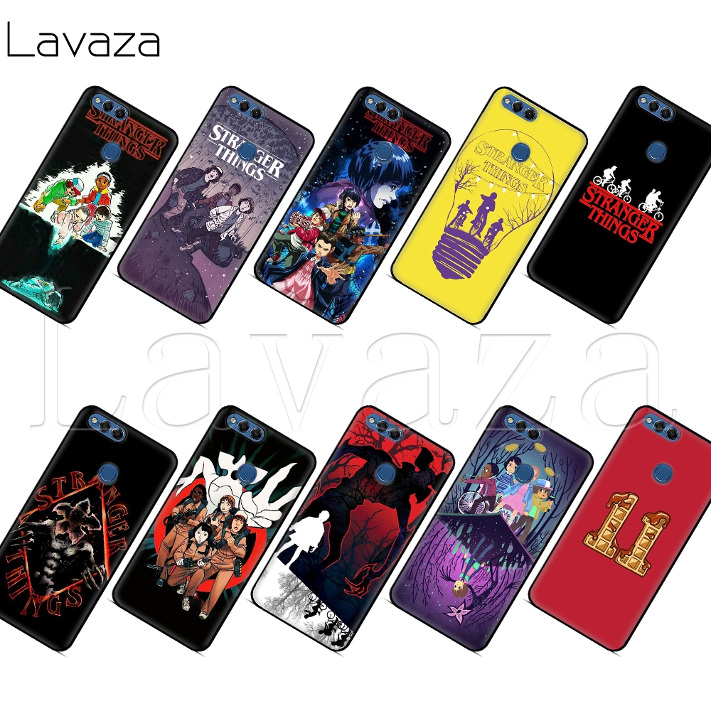 Lavaza <font><b>Stranger</b></font> <font><b>Things</b></font> 11 <font><b>Case</b></font> for <font><b>Huawei</b></font> P8 P9 P10 <font><b>P20</b></font> P30 Y6 Y7 Y9 <font><b>Lite</b></font> Pro P Smart Nova 2i 3i Mini 2017 2018 image
