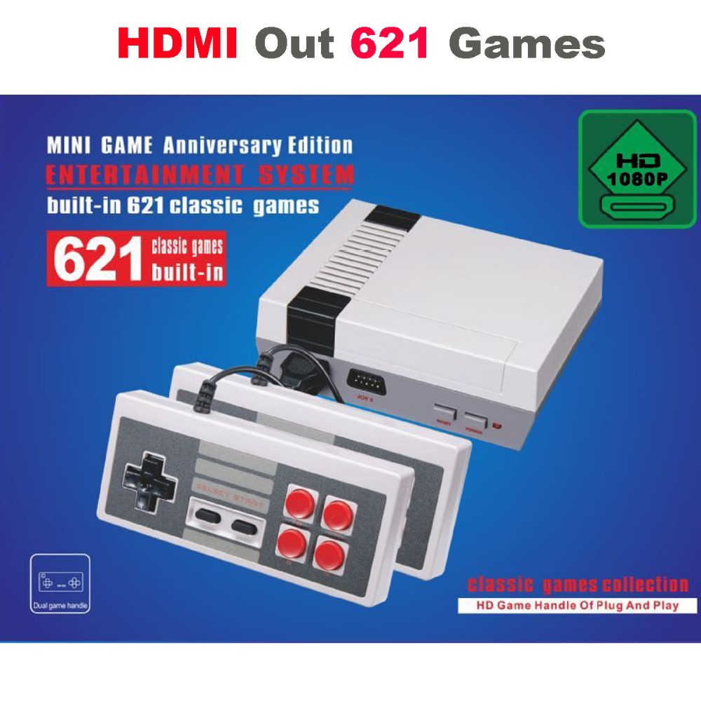 10PCS HDMI Out Retro Classic Handheld Game Player Family TV Video Game Console Childhood Built-in 600 Games For Mini HDMI