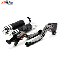 CNC Handlebar Motorcycle Handle Bar Grips Adjustable Clutch Brake Levers For YAMAHA YZF R1 YZF R1