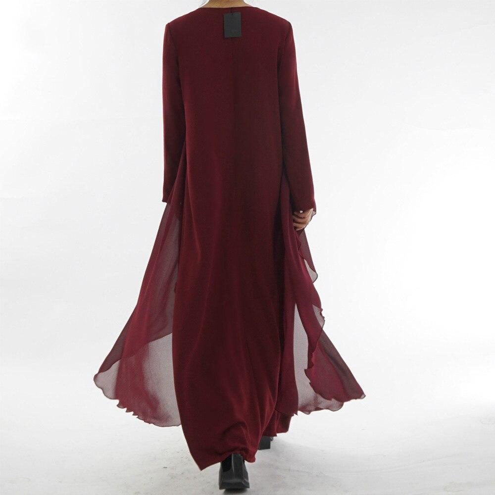 Мусульманские халаты одежда модные длинные имитация двух частей
